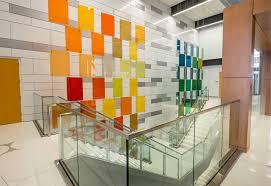 michigan state university colored glass panels