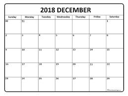 December Calendar Blank December Calendar Printable December Calendar 2018 Printable And