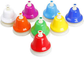 Facmogu desk bells, 8 notes diatonic metal hand bells, rainbow music bells, musical learning teaching percussion instrument, holiday birthday gift for children, toddles. Early Musical Teaching Chromatic Bell Hand Bells Desk Bells Colorful 8 Notes Music Hand Bell Set Percussion Instrument Musical Instruments Dj Concert Mallet Percussion Cate Org