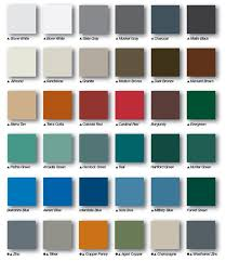 Steel Roof Color Chart Metal Roof Color Chart For Metal Roof Installing Metal