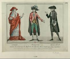 the dress of the clergy nobility and third estate via  estate one of the three classes in french society before the revolution first estate clergy or church officials second estate nobles and the third