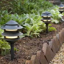 image of simple solar landscape lights