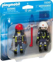 Feuerwehrmann Und Frau Playmobil City Life 70081