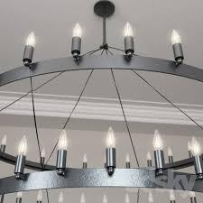 restoration hardware camino two tier chandelier large 3dsmax 2016 fbx vray