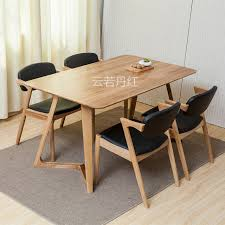 100 pure solid wood dining tables and chairs combination 1 8m black walnut color creative