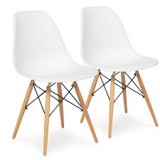 modern chair plastic. Best Choice Products Set Of 2 Eames Style Dining Chair Mid Century Modern Molded Plastic Shell W