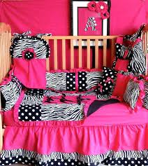 pink zebra bedding pink and zebra bedding sets 8 hot pink zebra dot baby bedding by