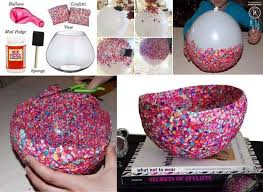 Creative, Easy Diy Crafts Using Balloons   Confetti, Bowls And Craft inside  Easy Handmade