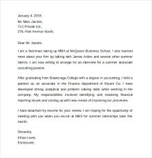13 Internship Cover Letters Samples Examples Formats Sample
