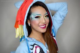 my little ponies rainbow dash makeup tutorial