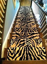 leopard runner rug animal print carpet for a staircase runners