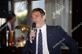 Italian journalist Pietro Senaldi attends interview Milan Editorial Stock  Photo - Stock Image