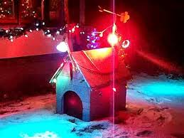 Snoopy's dog house at christmas - YouTube