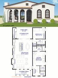 small spanish contemporary plan
