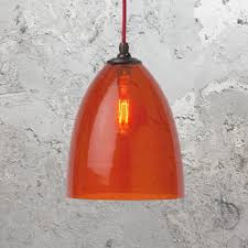 coloured glass pendant lights