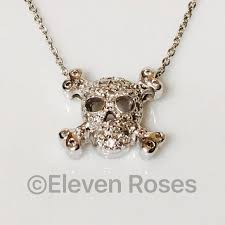 roberto coin diamond skull pendant necklace 750 18k gold tiny treasures free us