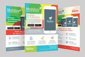 Make Flyer App Colourful Mobile App Flyer By Graphicstall On Creative