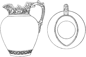 jug clipart black and white. top and side view of a jug clipart black white