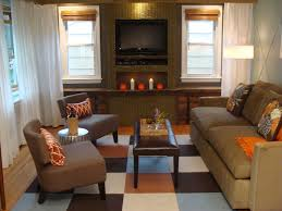 Plaid Living Room Furniture Elegant White And Wooden Wall Plaid Sofa Combined With Brown Sofas