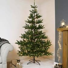 7ft Pre Lit Green Real-Feel Imperial Spruce Artificial Christmas Tree ...