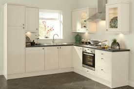 Simple Kitchen Decorating Ideas with White Stained Wall Mounted Cabinet and  Stainless Steel Single Handle Faucet