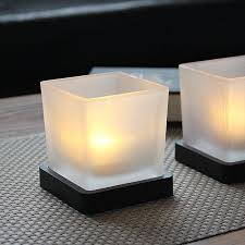 square frosted glass candle jar for honme decoeation