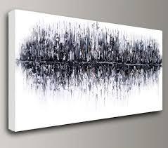 office canvas art. Black White Painting, Abstract Acrylic Painting Oil Original Wall Art Home Office Interior Decor Impasto Canvas Baron Visi Custom