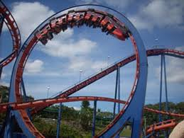 we re here at busch gardens africa today s ride we ll be reviewing for you is scorpion after getting in the trains and pulling down the lap bars