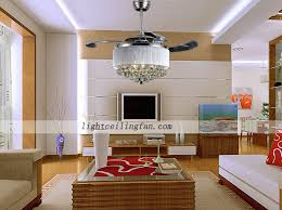 led acrylic blades crystal invisible ceiling fan light