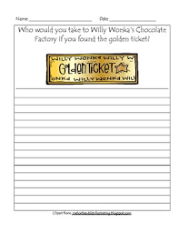 charlie and the chocolate factory golden ticket writing prompt tpt charlie and the chocolate factory golden ticket writing prompt