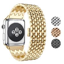 Designer 38mm Apple Watch Bands Kwlet Metal Bands Compatible With Apple Watch Band 38mm 40mm Rose Gold Stainless Steel Band Wristband Band Replacement Bands For Iwatch Series 4