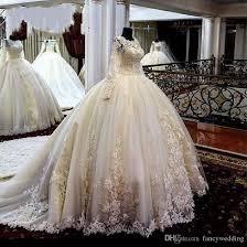 2019 Hot Sell New Coming White Jewel A Line Long Sleeves Sweep Train Custom Made Beautiful Fashion Sexy Wedding Dress
