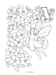 Small Picture Flower Fairy Alphabet Coloring Pages Coloring Fairies Coloring