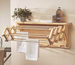 image of wonderful wooden clothes drying rack