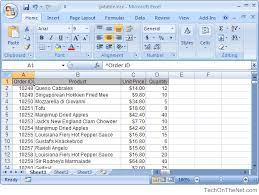 Ms Excel 2007 How To Create A Pivot Table