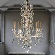 outstanding 19th century swedish nine arm glass chandelier