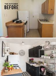 Small Apartment Kitchen What A Great Transformation And In A Rental Too Alaina