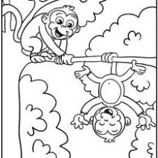 Wondrous Monkeys Coloring Pages Free Printable Monkey For Kids