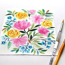 of course you can create your own designs here s a tutorial you may enjoy paint watercolor flowers in 15 minutes