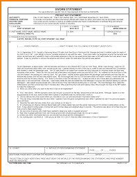 Army Sworn Statement Form.da Example New Illustration Sworn ...