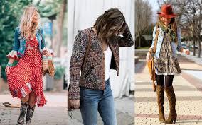 Лёгкие платья с затейливыми узорами, кимоно с бахромой, летние замшевые сапоги, льняное кружево, бисер и вышивка. 11 Osennih Naryadov Dlya Poklonnic Stilya Boho