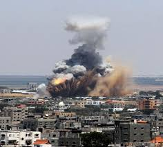 imagine a photo essay for gaza american everyman a blast shakes the gaza strip after an attack by i forces speaking on the