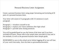 Personal Business Letter Layout