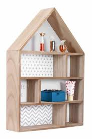 new large house shape wooden wall unit display shelf storage shelves home decor