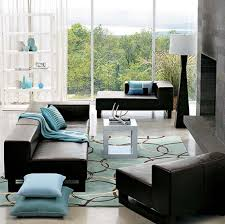 Turquoise And Brown Living Room Turquoise And Brown Curtains Gray Microfiber Cover Sofa With Arms
