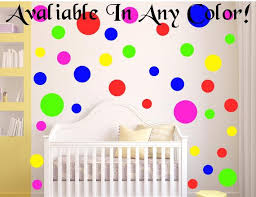 large polka dot wall decals for kids