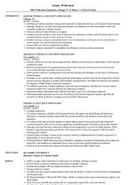 Physical Security Specialist Resume Samples Velvet Jobs