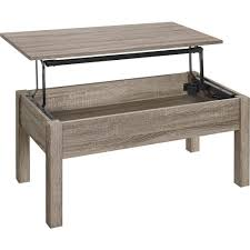 ... Coffee Table, Chic Grey Rectangle Vintage Wood Lift Up Coffee Table  With Storage Idea: ...