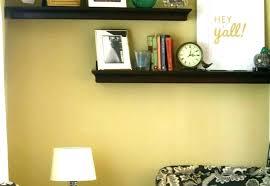 thick wood floating shelves oak light shelf with on lights