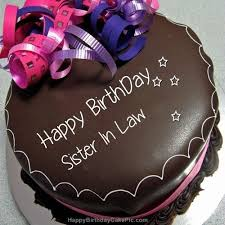 Happy Birthday Chocolate Cake For Sister In Law 500500 Pixels